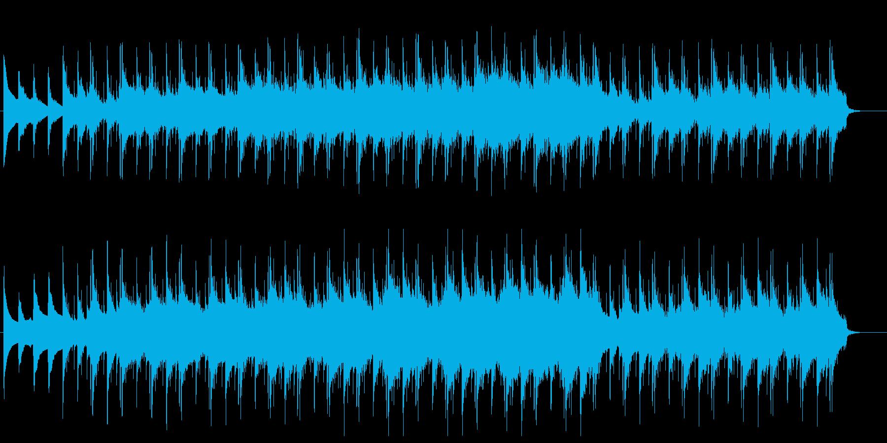ミディアムテンポのデジタル系の楽曲の再生済みの波形