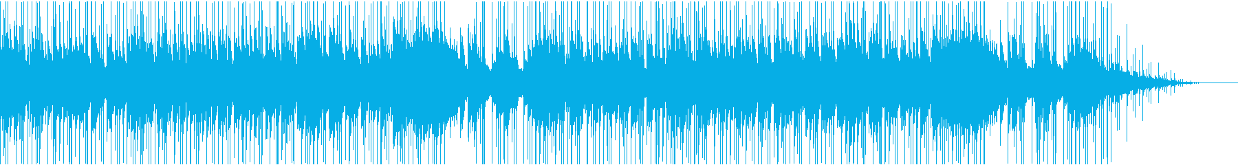 しっとりとした雰囲気のBGMの再生済みの波形
