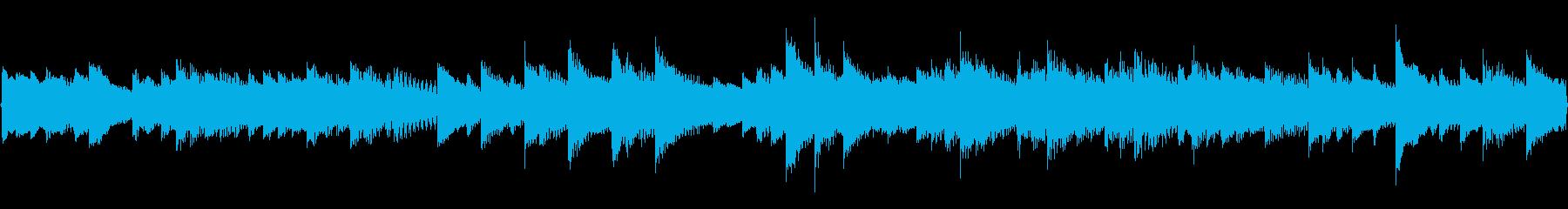 優しいエレピと明るいチェレスタのループ曲の再生済みの波形