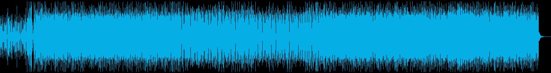 爽やかでほのぼしたEDM南国風BGMの再生済みの波形
