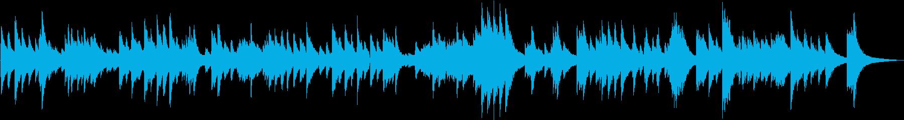 生演奏 ゆったりとしたピアノBGMの再生済みの波形