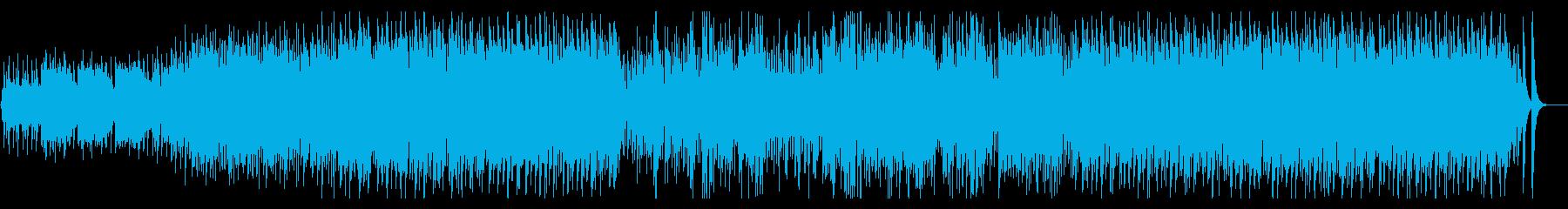 のんびりとした牧歌的な日常曲の再生済みの波形