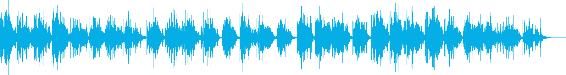 悲しげで寂しいピアノソロのバラードの再生済みの波形