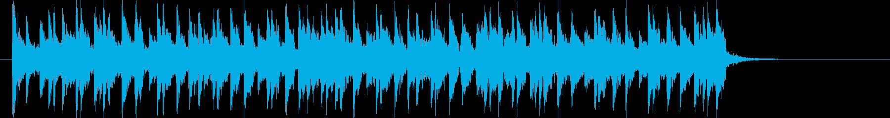 和やかで可愛らしいミュージックの再生済みの波形