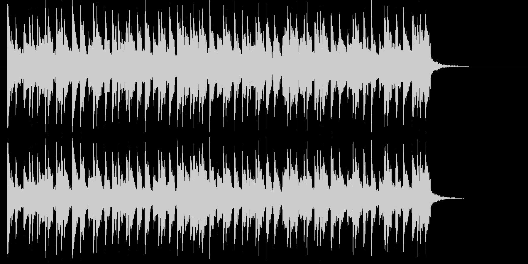 和やかで可愛らしいミュージックの未再生の波形