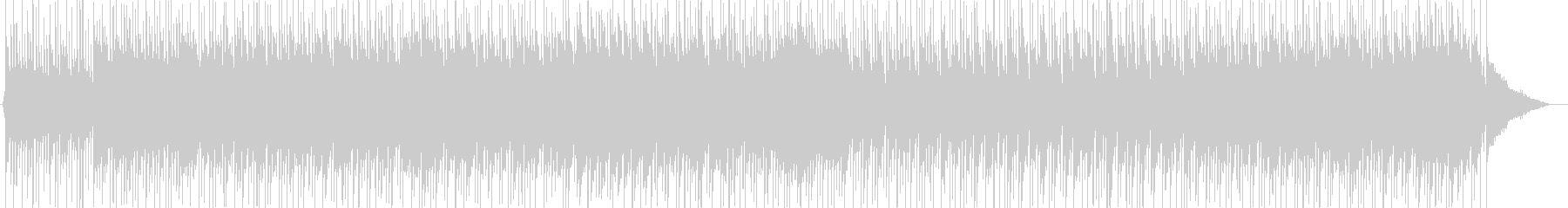 クラシックをアレンジしたルンバの未再生の波形