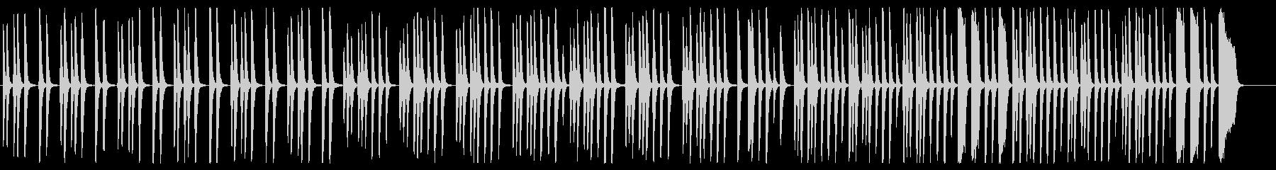 軽快なピアノの行進曲の未再生の波形
