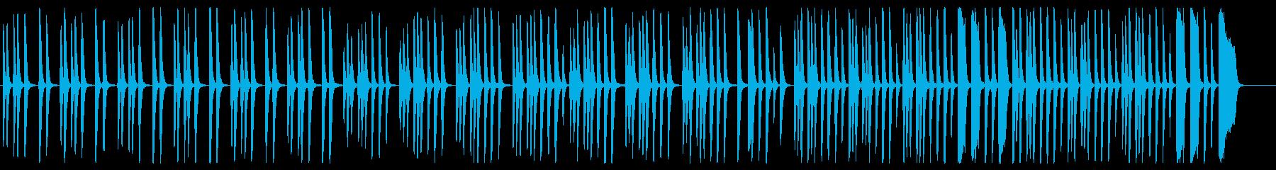 軽快なピアノの行進曲の再生済みの波形