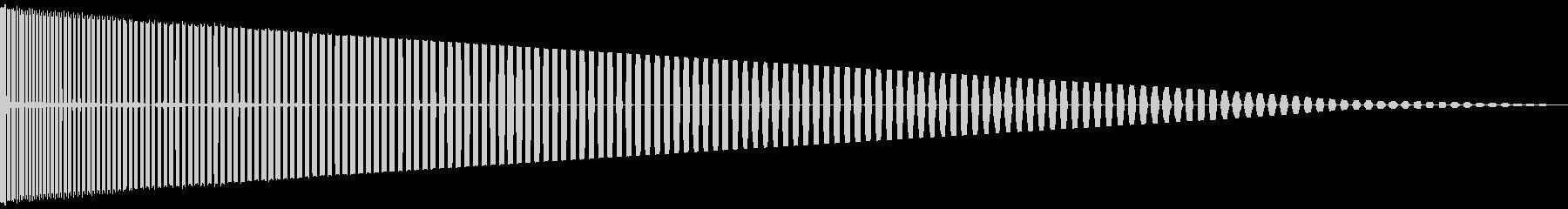 パワーダウンの未再生の波形