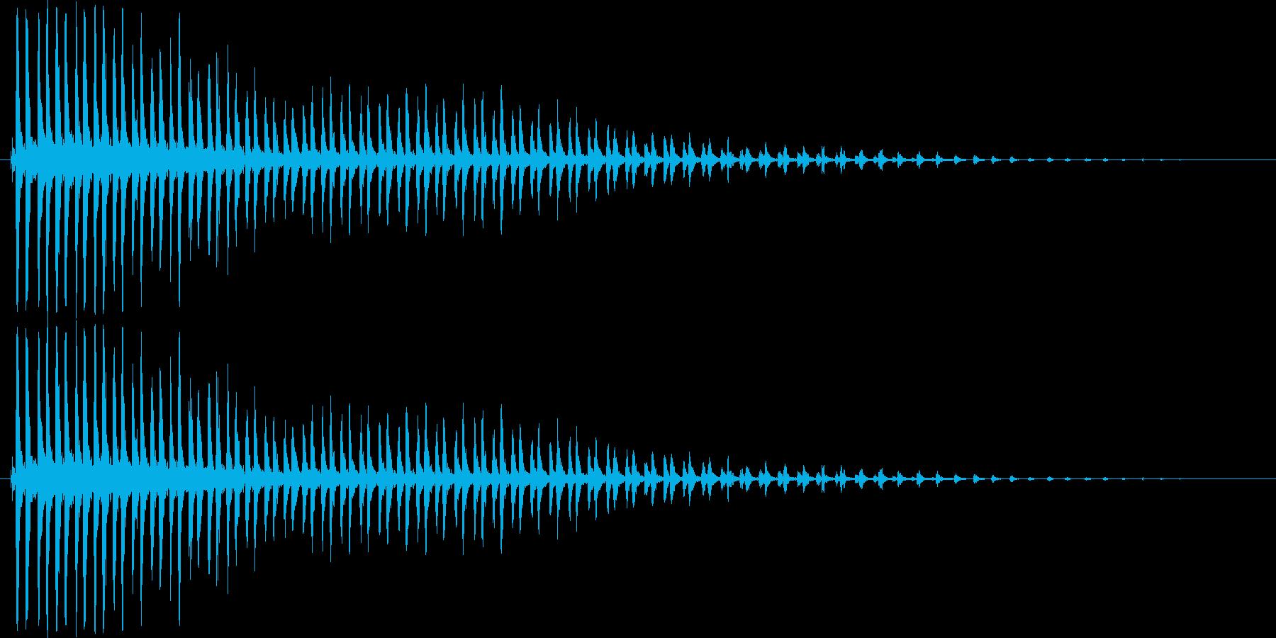 カーン_TVでよく使われる効果音の再生済みの波形