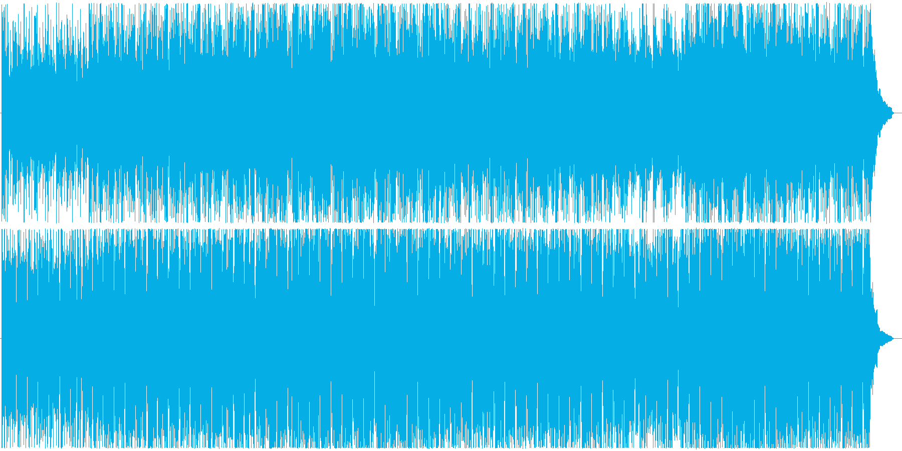 ギターがさわやかなBGMの再生済みの波形