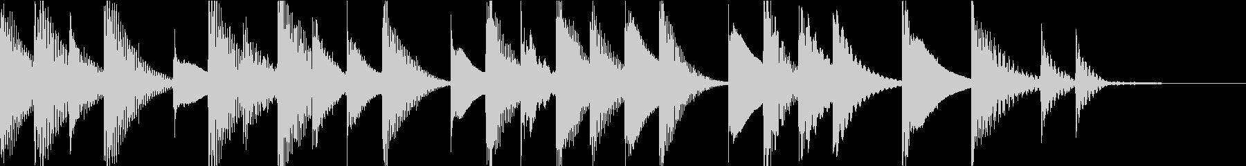 マリンバのほのぼのとしたジングル1の未再生の波形