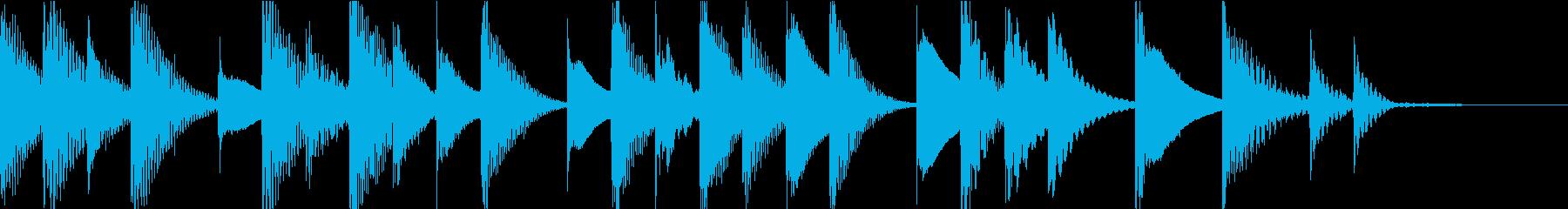 マリンバのほのぼのとしたジングル1の再生済みの波形