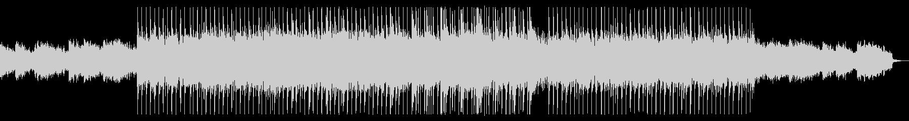 明るくウキウキするシンセサイザーの曲の未再生の波形