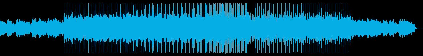 明るくウキウキするシンセサイザーの曲の再生済みの波形