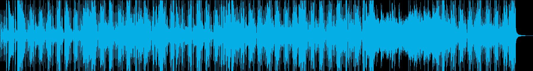 緩やかな軽快さのレゲエトラックの再生済みの波形