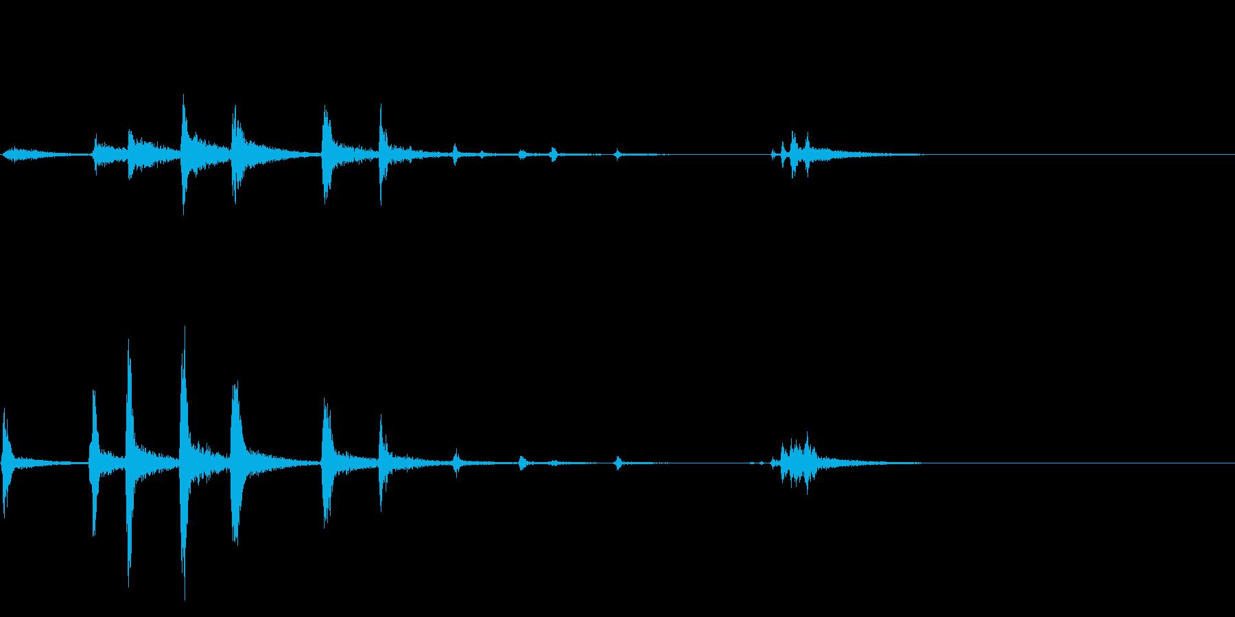 非現実感のあるヒヨドリと鶯のジングルの再生済みの波形
