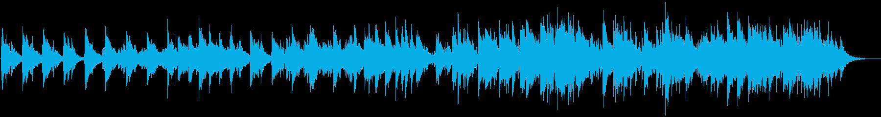 オルゴールのような映画のサントラ風の曲の再生済みの波形