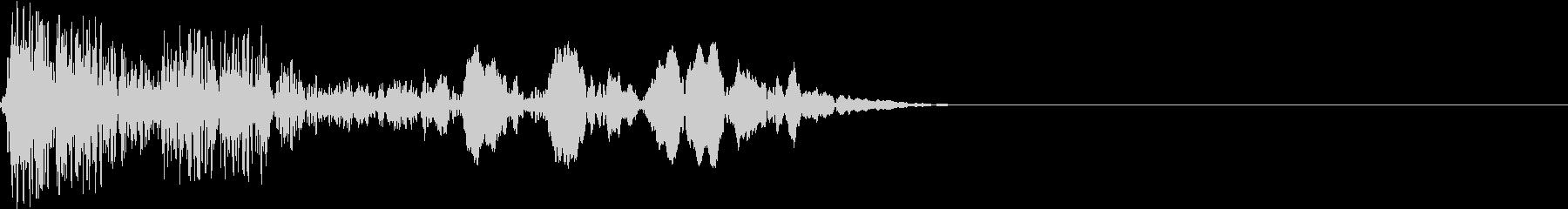 宇宙人の鳴き声1の未再生の波形