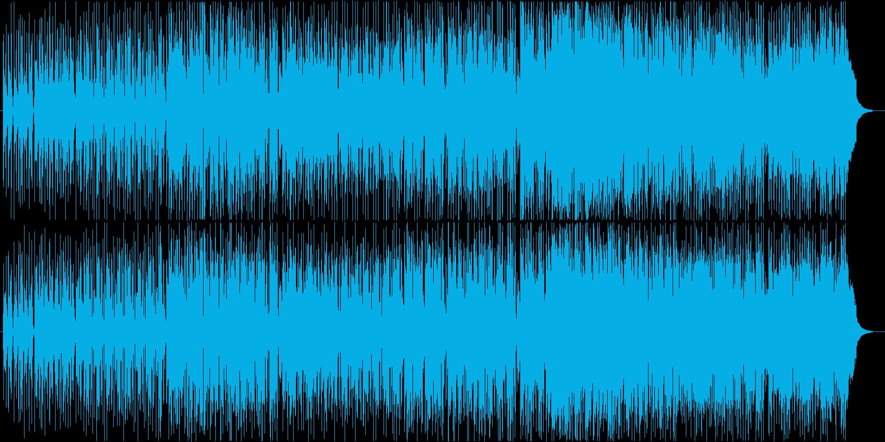 ミディアムテンポのフュージョンの再生済みの波形
