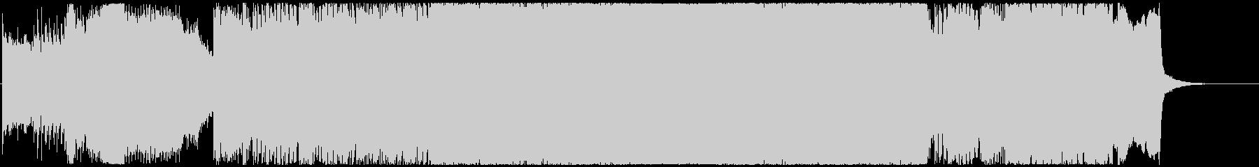 戦国城攻めのイメージ和風ハードロックの未再生の波形