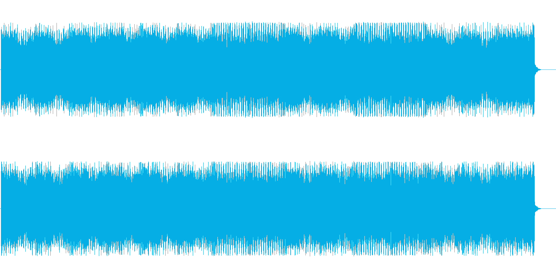 スタイリッシュなテクノBGMの再生済みの波形