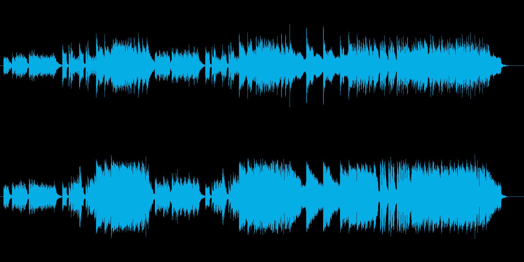 コミカルな結婚式風BGMの再生済みの波形