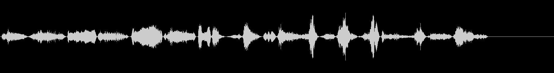 ゾンビ男性呼吸4の未再生の波形