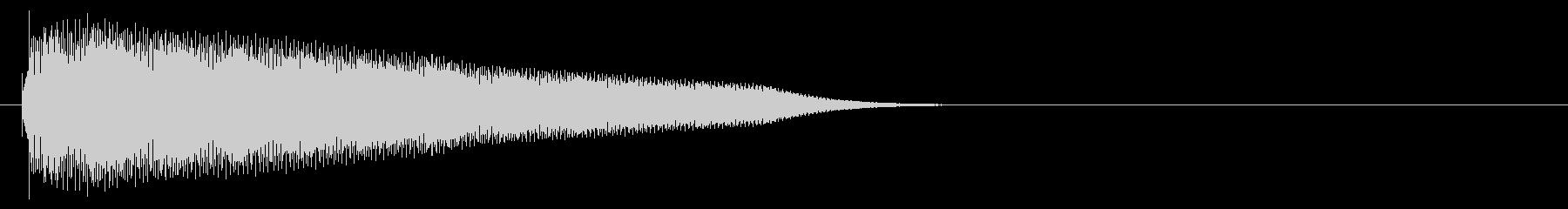 グロッケン系 タッチ音2(長)の未再生の波形