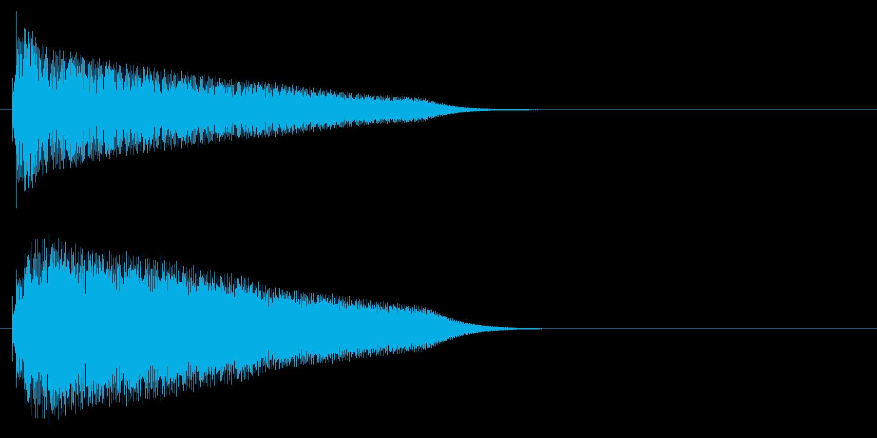 グロッケン系 タッチ音2(長)の再生済みの波形