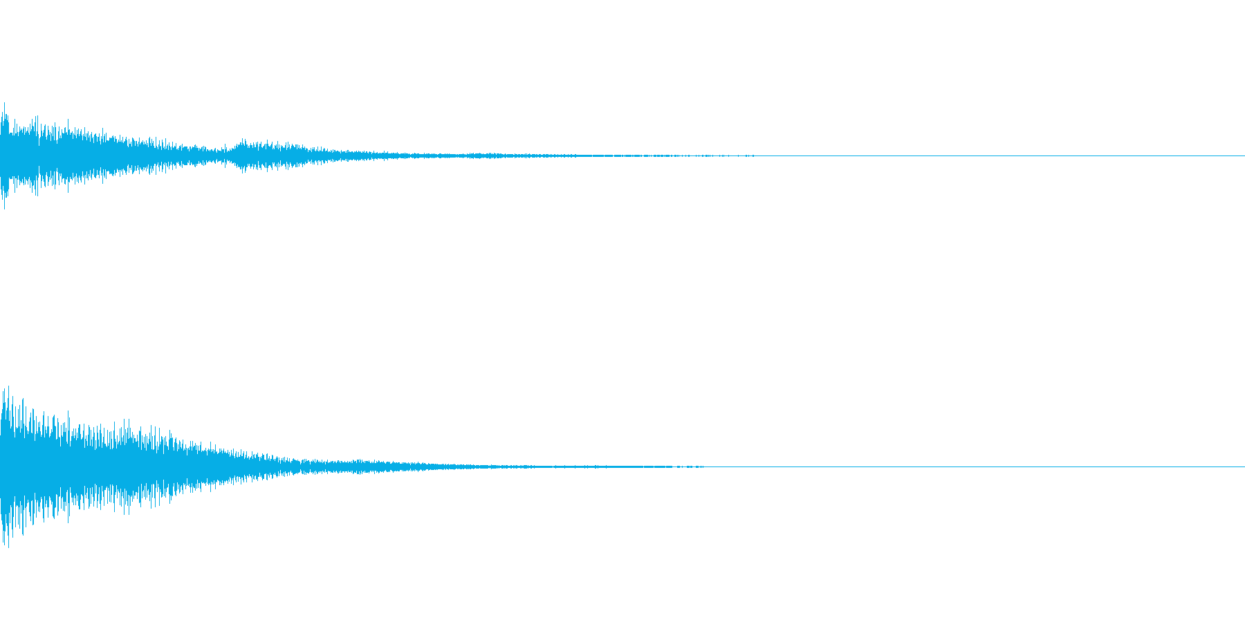 ピアノ明るいオシャレコードの再生済みの波形