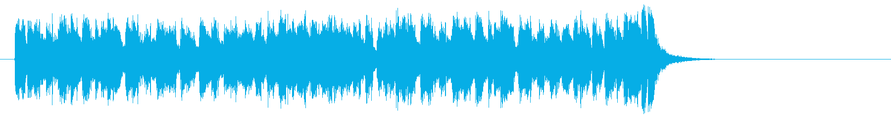 ラテン系フュージョン(サビ)の再生済みの波形