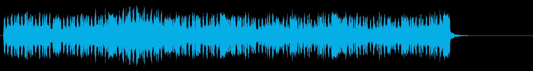 アイリッシュ風のやさしいインストの再生済みの波形