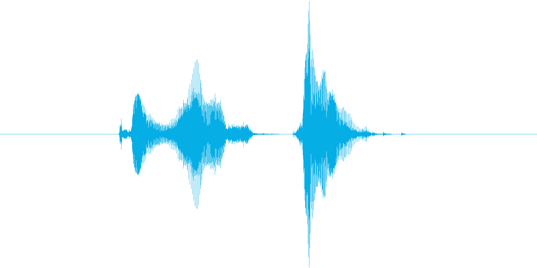 クエスチョンの再生済みの波形