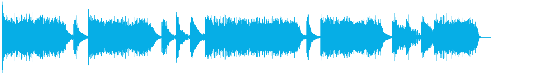 生演奏のエレキギターのリフ。の再生済みの波形