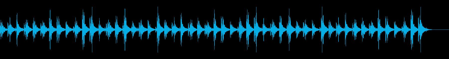 宇宙空間を漂う雰囲気のアンビエントBGMの再生済みの波形