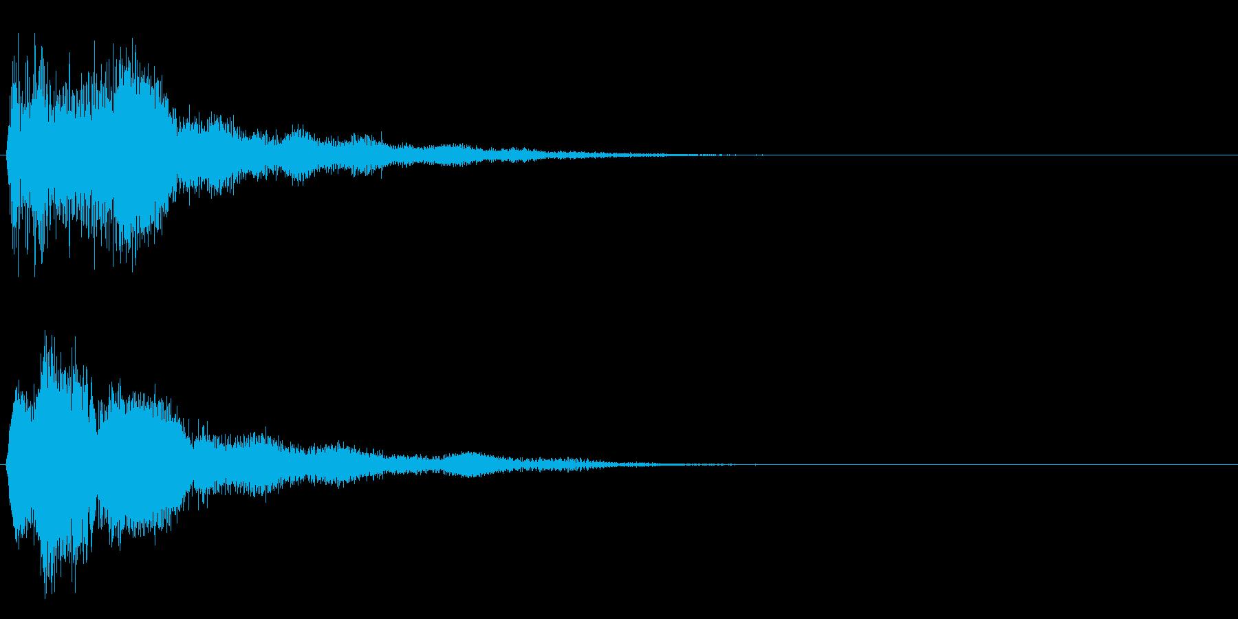 グヮーンーの再生済みの波形
