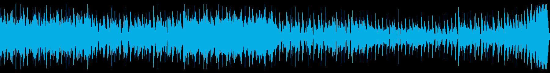 中東的な音階のEDM風ループの再生済みの波形