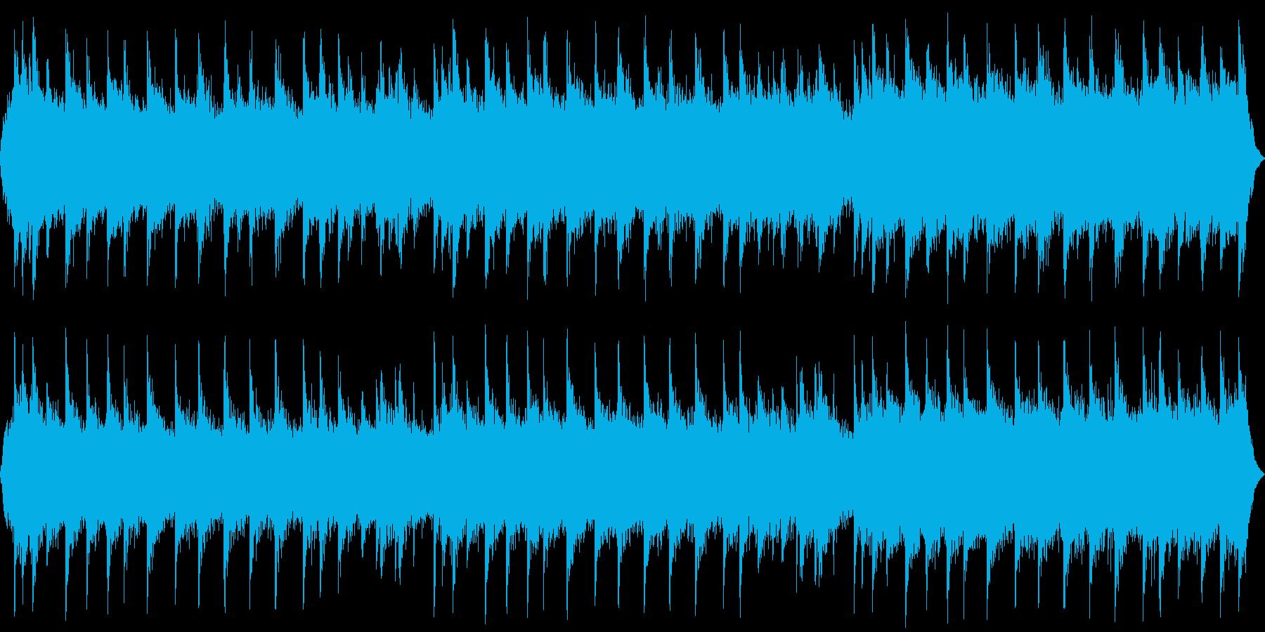 ホラー系の奇怪な背景 暗いアンビエントの再生済みの波形