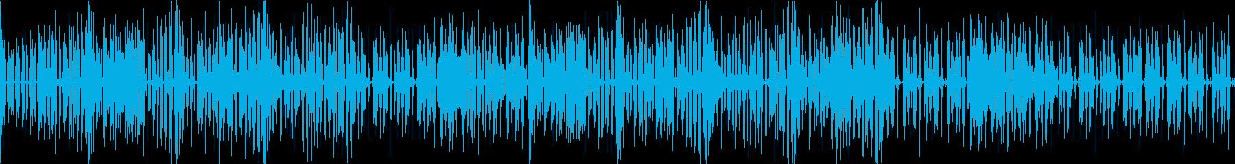 かっこいいリズムでおしゃれなメロディーの再生済みの波形