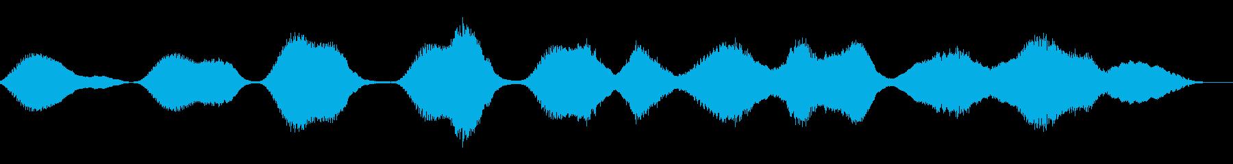 しのびよる恐怖の音の再生済みの波形