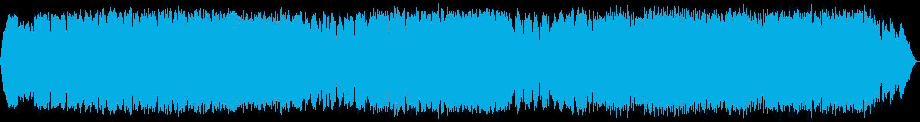 エスニックな竹笛の静かでリズミカルな音楽の再生済みの波形