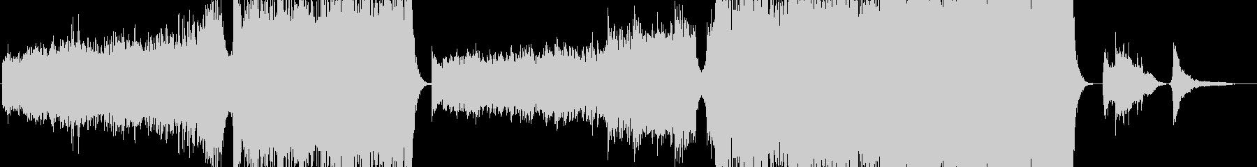 感動的かつ躍動的なシネマティックBGMの未再生の波形