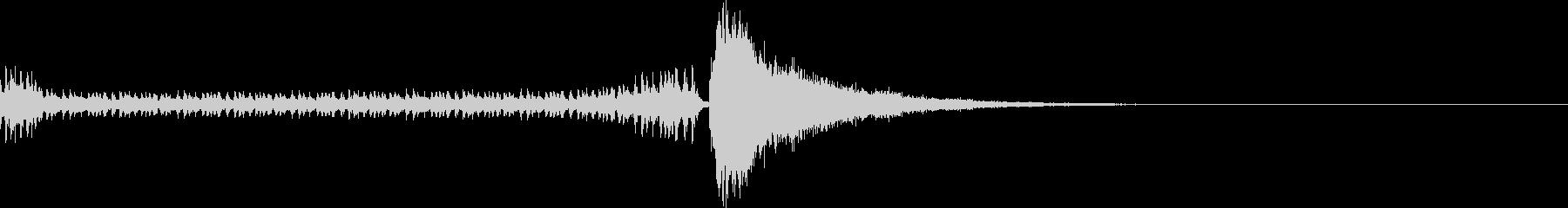 結果発表ドラムロールの未再生の波形