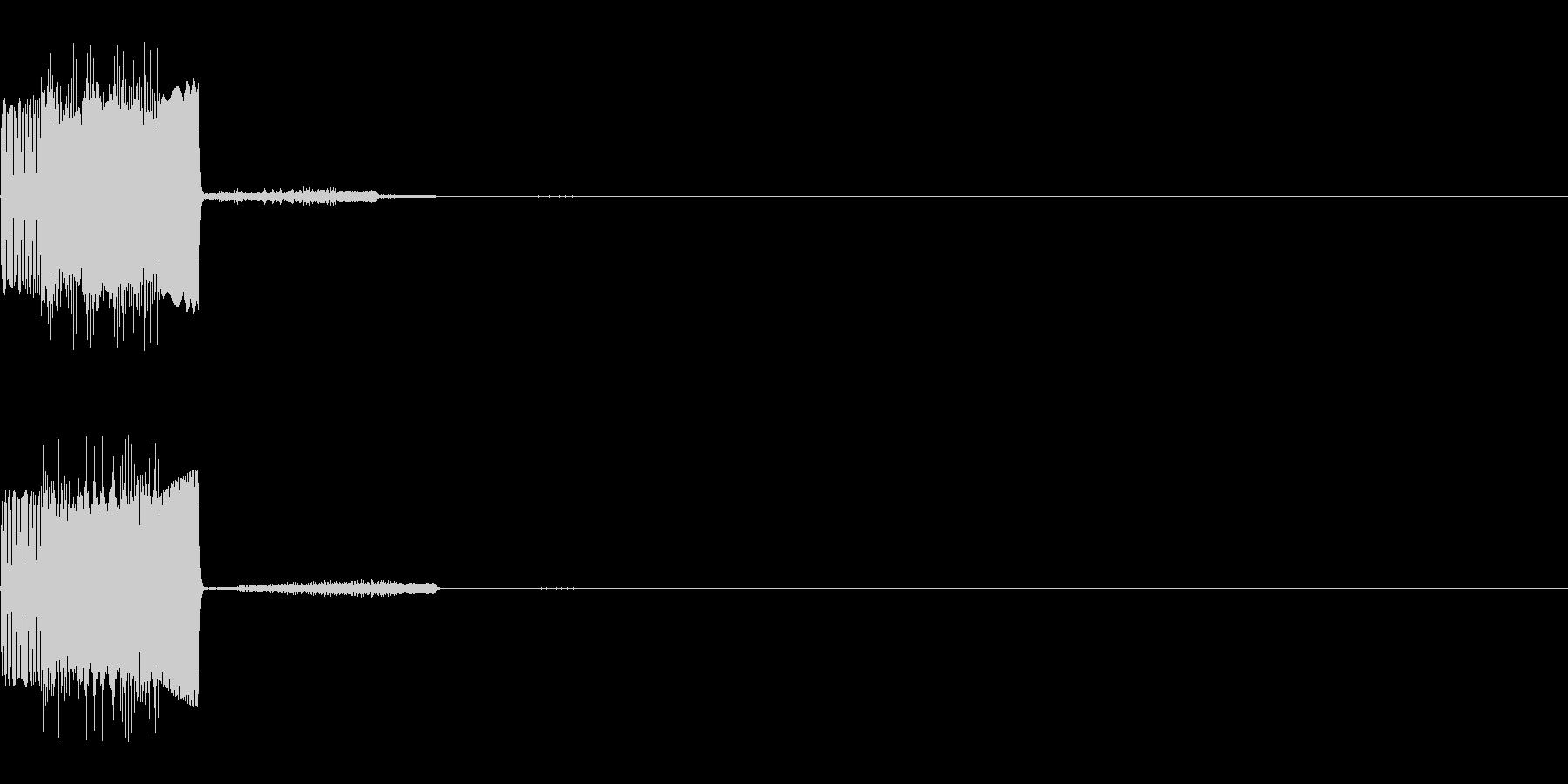チロッ(決定音)の未再生の波形