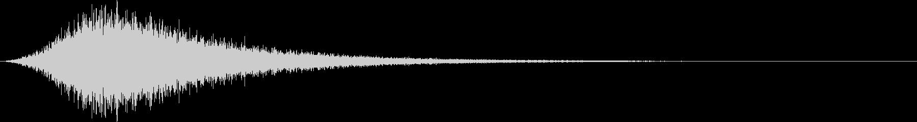 ゴーストリーフラッターの未再生の波形