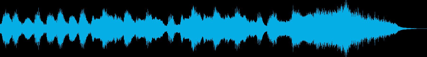フルートが奏でるほのぼのジングル・後半の再生済みの波形