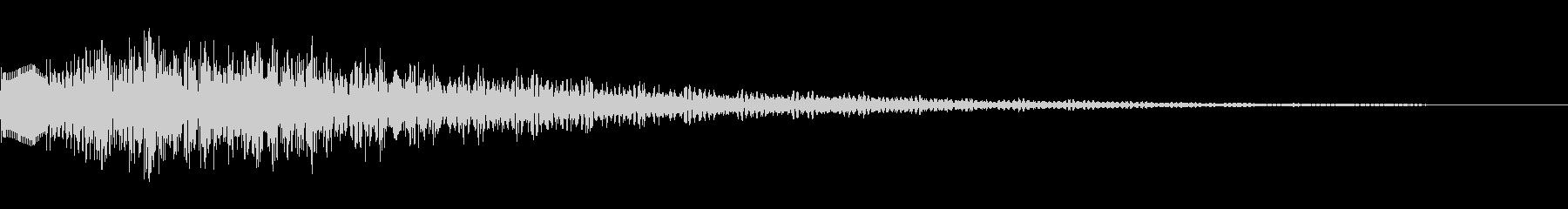 サスペンスっぽい怪しいエレピ音の未再生の波形