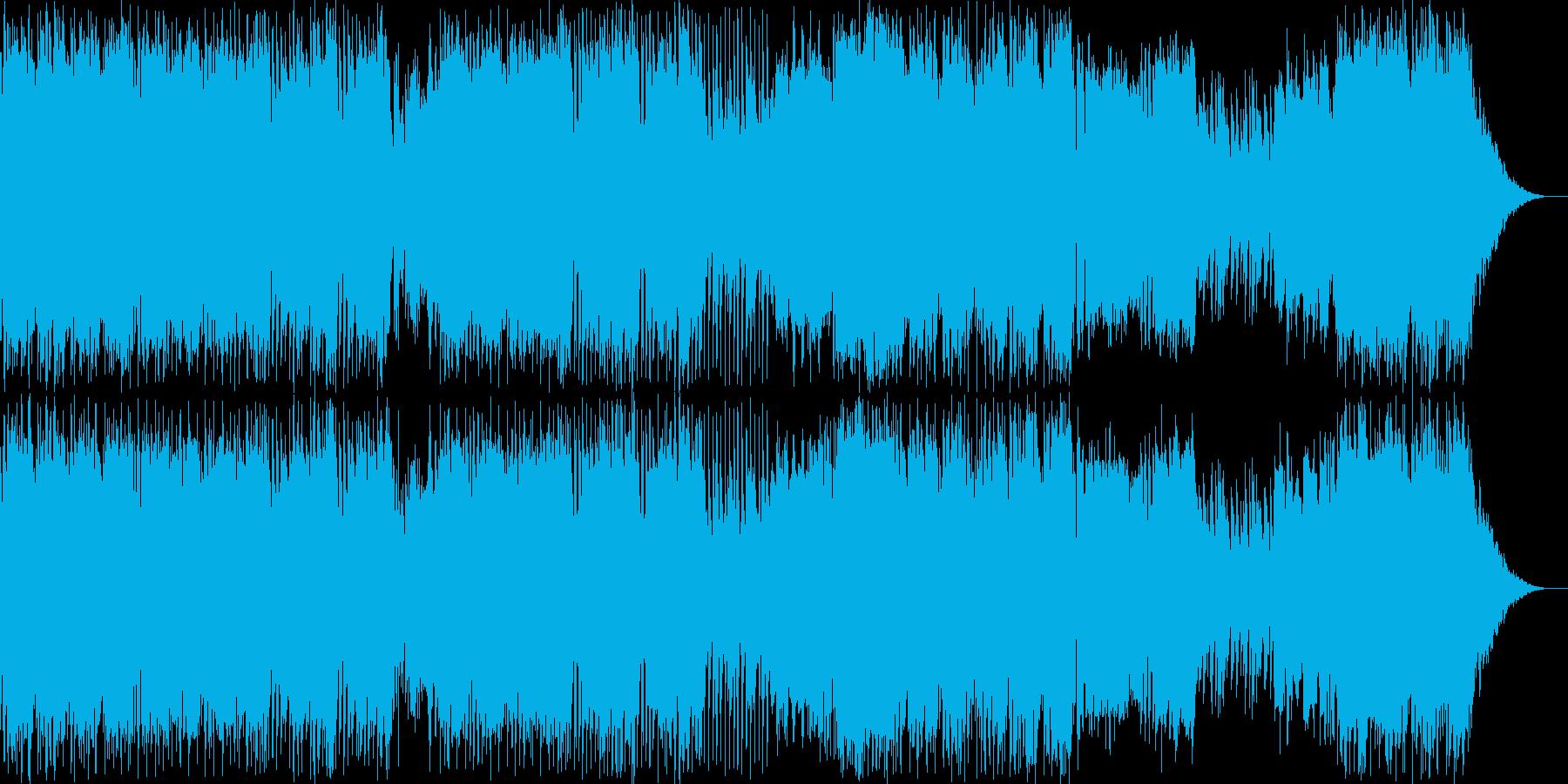 レスリングの入場テーマのイメージの再生済みの波形