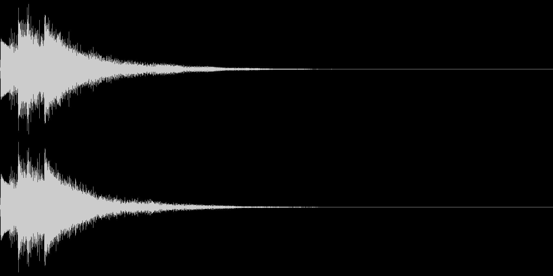 キラン!なアタック音5の未再生の波形